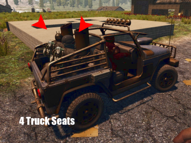 Truck 4 Seat better Horn - Bike faster better Horn - Zombie Yellow Crates live 20 Minutes instead of 5 - Only XML