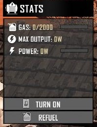 Generator FuelMax 1 showing gas increase