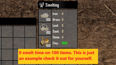 Faster Smelting and More Smelted Resources