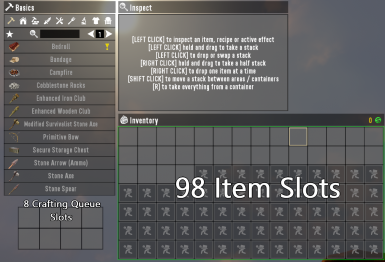 (A19) Malacay2k11's 98Slot Inventory and 8Slot Crafting Queue