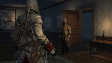 White and Red Assassin Robe