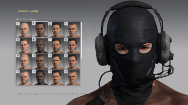 Select this face preset