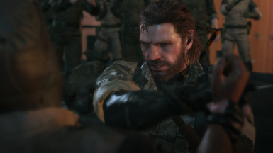 Real Big Boss Head Without Eyepatch And Eyes Over Avatar At