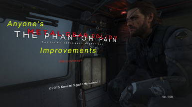 Anyone's MGSV TPP Improvement's