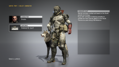 No hip weapons on the Venom outfits at Metal Gear Solid V