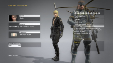 Quiet Sniper Wolf With Default Face And Black Dress For Quiet Sniper Wolf