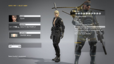 Quiet Sniper Wolf With Black Dress For Quiet Sniper Wolf 1