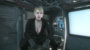 Quiet Makeup And Black Dress Blonde Hair Sniper Wolf on Female Parasite 2