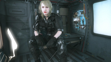 Quiet Makeup And Blonde Hospital Hair And Black Hospital Dress on Female Battle Dress  2