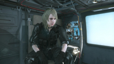 Quiet Blonde Hospital Hair And Black Hospital Dress on Female Sneaking Suit  2