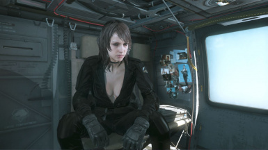 Quiet Black Dress Hospital Hair Sniper Wolf on Female Battle Dress 1
