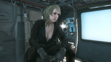 Quiet Black Dress Blonde Hospital Hair Sniper Wolf on Female Sneaking Suit 2