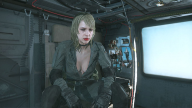 Quiet Makeup Blonde Hospital Hair Sniper Wolf Dress on Female Sneaking Suit 9
