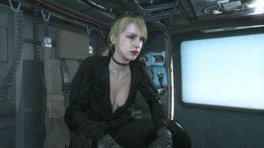 Quiet Makeup And Black Dress Blonde Hair Sniper Wolf on Female Parasite 3