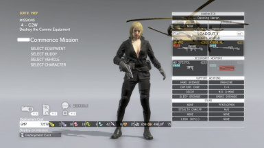 Quite Makeup And Black Dress Blonde Hospital Hair Sniper Wolf on Female Sneaking Suit