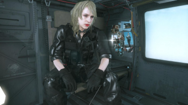 Quiet Makeup And Blonde Hospital Hair And Black Hospital Dress on Female Battle Dress  3