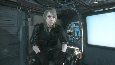 Quiet Blonde Hospital Hair And Black Hospital Dress on Female Sneaking Suit  3