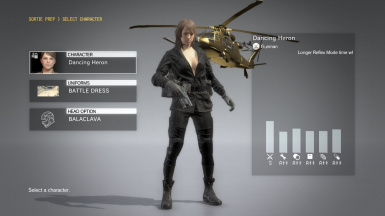 Quiet Black Dress Hospital Hair Sniper Wolf on Female Battle Dress
