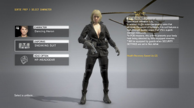 Quiet Black Dress Blonde Hospital Hair Sniper Wolf on Female Sneaking Suit