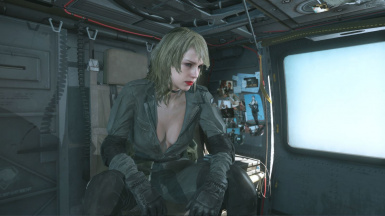 Quiet Makeup Blonde Hospital Hair Sniper Wolf Dress on Female Sneaking Suit 2
