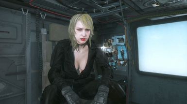 Quite Makeup And Black Dress Blonde Hospital Hair Sniper Wolf on Female Sneaking Suit 2