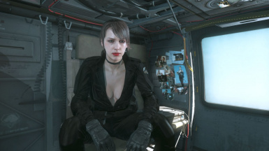 Quiet Makeup And Black Dress Brown Hair Sniper Wolf on Female Parasite 1