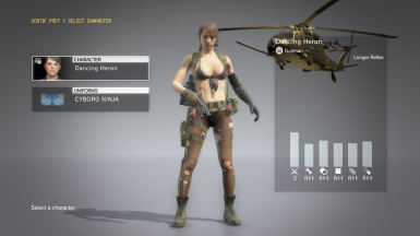 Quiet Makeup And Default Dress on Cyborg Ninja  13