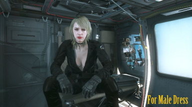 Makeup Blonde Hospital Quiet Hair And Black Sniper Wolf Dress   m 4