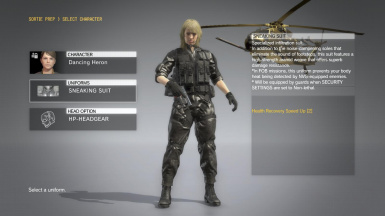 Quiet Blonde Hospital Hair And Black Hospital Dress on Female Sneaking Suit  1