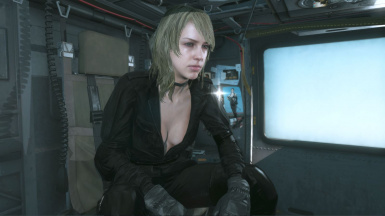 Quiet Black Dress Blonde Hospital Hair Sniper Wolf on Female Sneaking Suit 13