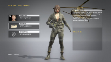 Quiet Makeup Hospital Hair Sniper Wolf Dress on Female Battle Dress
