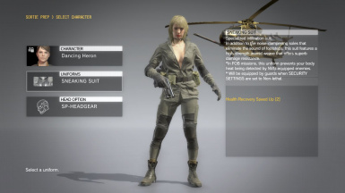 Quiet Makeup Blonde Hospital Hair Sniper Wolf Dress on Female Sneaking Suit