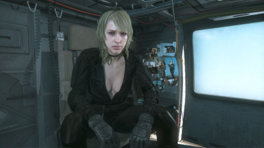 Quiet Black Dress Blonde Hospital Hair Sniper Wolf on Female Sneaking Suit 5