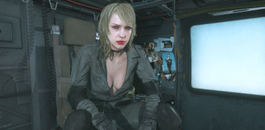 Quiet Makeup Blonde Hospital Hair Sniper Wolf Dress on Female Sneaking Suit 19