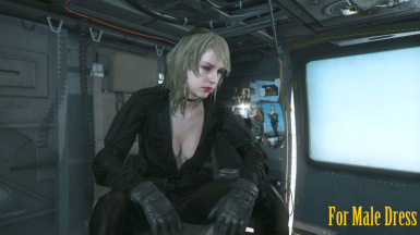 Makeup Blonde Hospital Quiet Hair And Black Sniper Wolf Dress   m 7