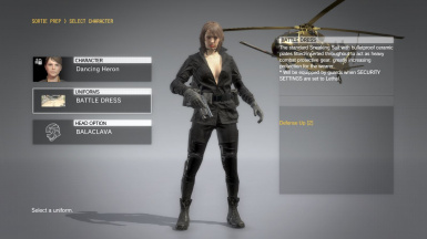 Quiet Makeup And Black Dress Hospital Hair Sniper Wolf on Female Battle Dress