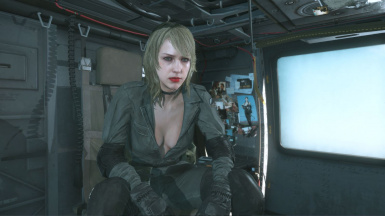 Quiet Makeup Blonde Hospital Hair Sniper Wolf Dress on Female Sneaking Suit 11