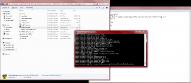DoItForMe in progress showing the files created while it runs