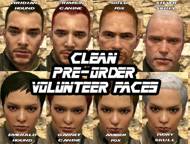 Clean Pre-Order Faces