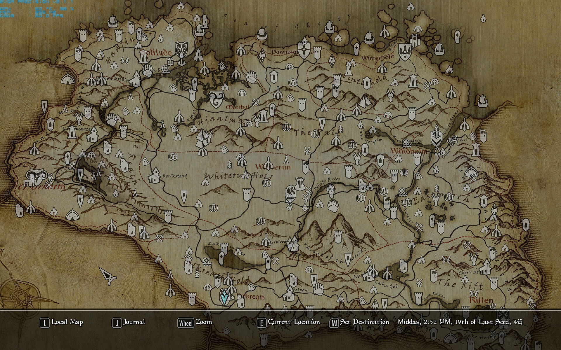 Paper Map with Height at Skyrim Nexus - mods and community