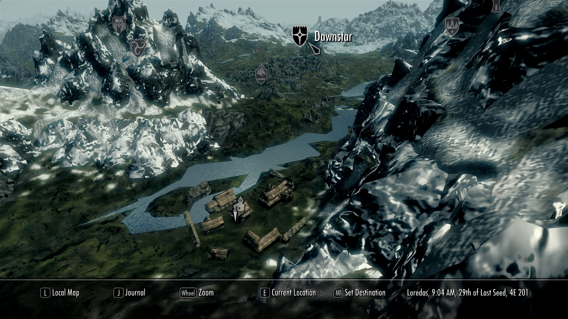Complete Map Of Skyrim ft hood map