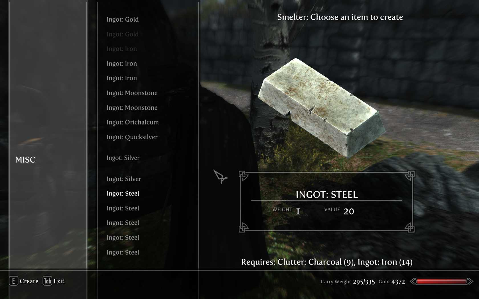 ps4 how to make iron ignot