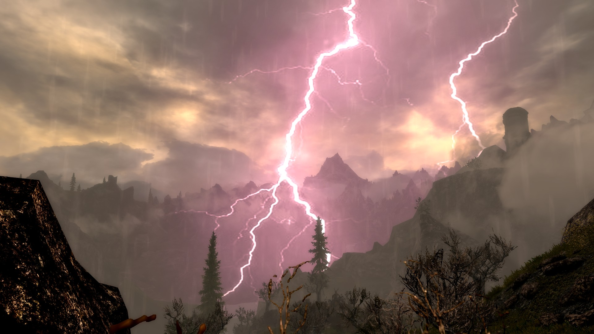 Lightning during Thunder Storms at Skyrim Nexus   mods and community. Red Alert Lightning Storm. Home Design Ideas