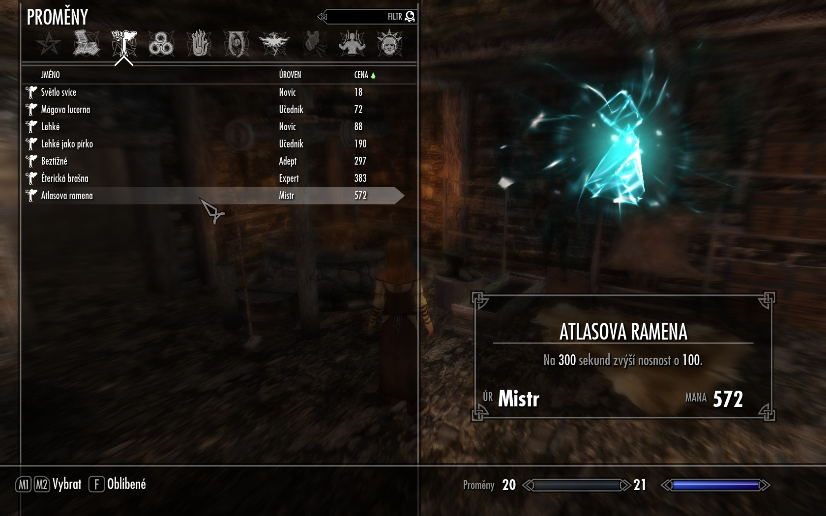 Carry Weight Spells - Czech translation at Skyrim Nexus - mods and