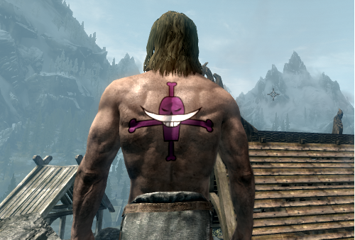 Ace And Trafalgar Law Tattoos From One Piece At Skyrim