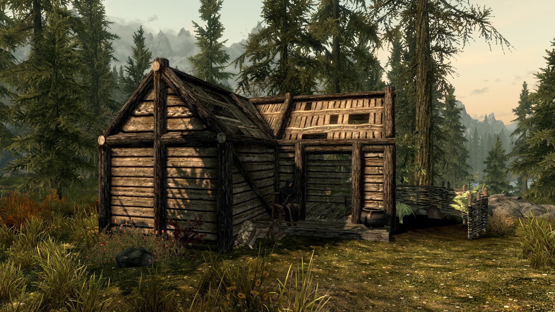 skyrim legendary edition how to build a house