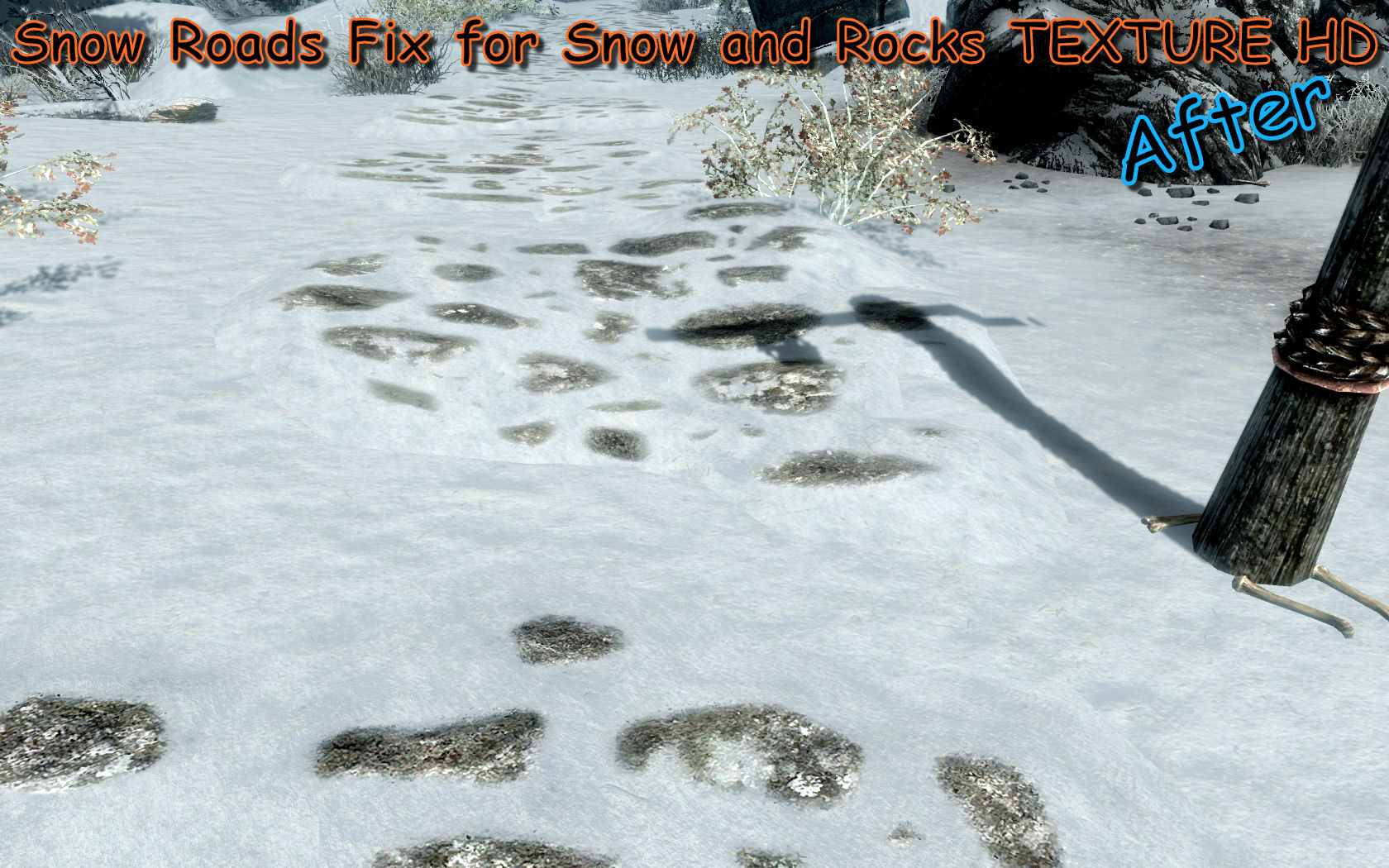 Snow Roads Fix for Snow and Rocks TEXTURE HD at Skyrim Nexus