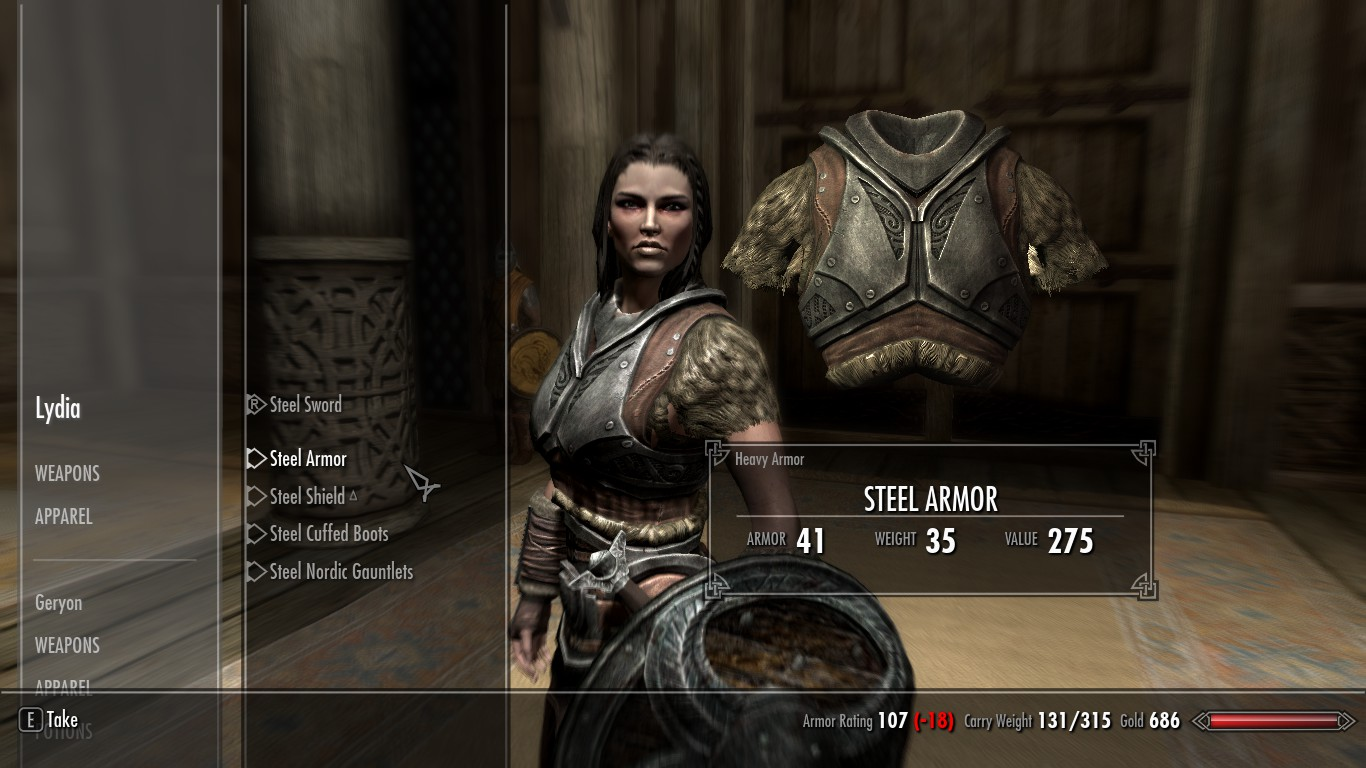 how to set your carry weight in skyrim