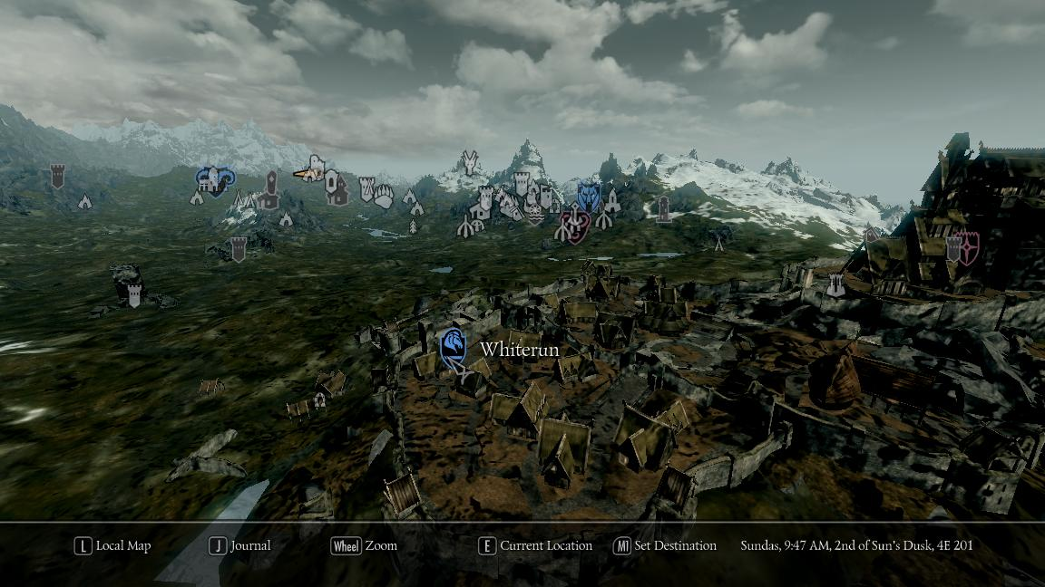 Improved 3D World Map and other skyrim ini tweaks at Skyrim