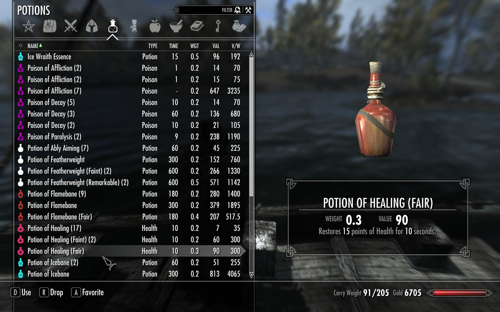 Requiem - Potions Weight Rebalanced at Skyrim Nexus - mods